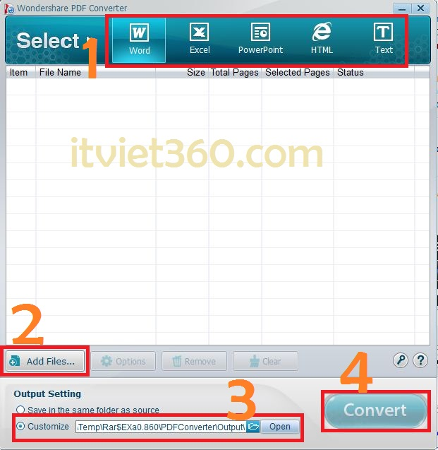 Wondershore PDF converter Full - Phần mềm chuyển PDF to word, excel, HTML, text...