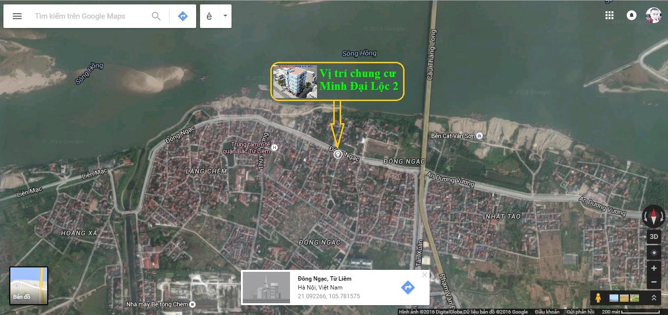 Vị trí tòa chung cư mini Minh Đại Lộc 2 (ngõ 173 Đông Ngạc)