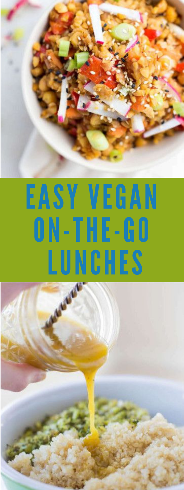 EASY VEGAN ON-THE-GO LUNCHES #vegetarian #brocoli