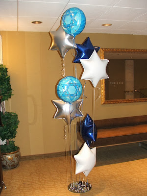 Helium balloons, David star balloon shape
