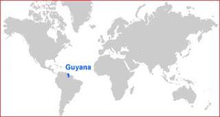 Gambar Peta letak Guyana