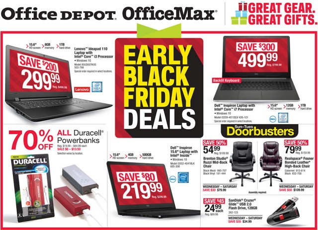 Office Depot Early Black Friday Ad Flyer