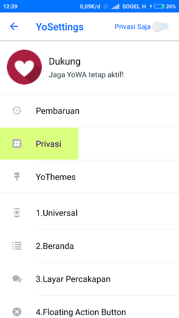 Privasi WhatsApp Mods (YOWA)