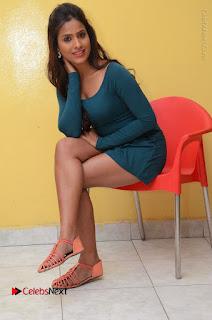 Telugu Actress Prasanthi Stills in Green Short Dress at Swachh Hyderabad Cricket Press Meet  0087.JPG