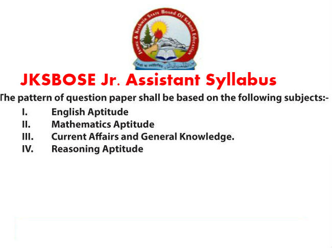 dc8e5bc4 If you are reading this page, then chances are you have applied for JKBOSE  Jr. Assistant Recruitment 2019 for 84 Posts and if you have not applied, ...