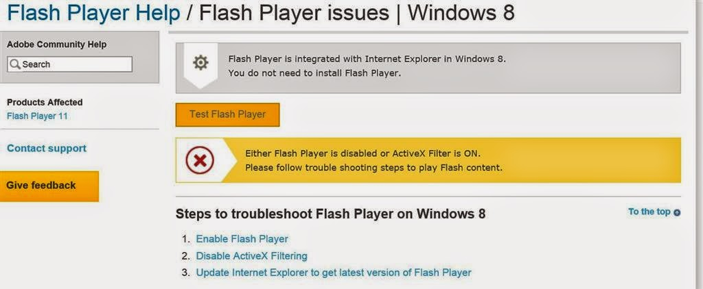 Free Windows Help Either Flash player is disabled or Active x
