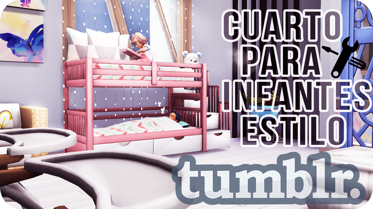 Los sims 4 speed room habitaci n para infantes estilo for Cuarto estilo tumblr