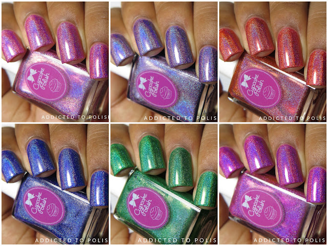 Cupcake Polish Butterfly Collection Swatches and Review