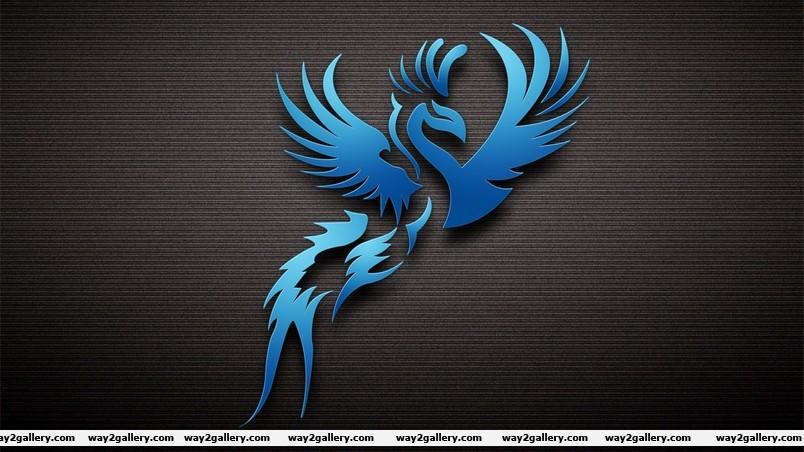 Dark blue bird wallpaper