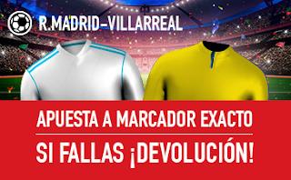 sportium promocion Real Madrid vs Villarreal 13 enero