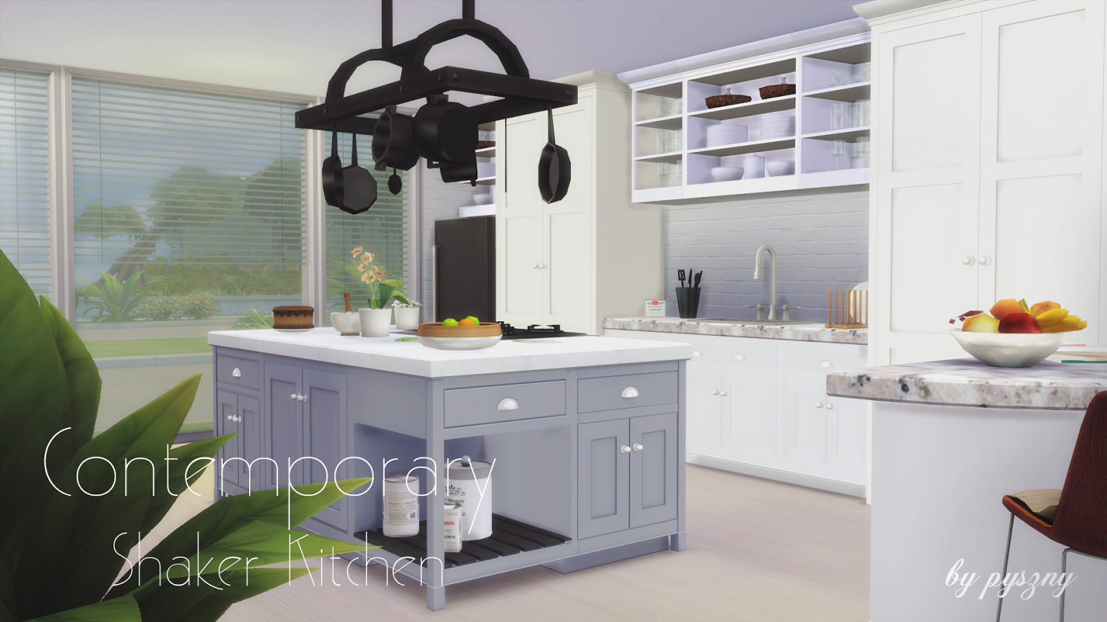 sims 4 cc's - the best: contemporary shaker kitchen set by pyszny, Badezimmer ideen