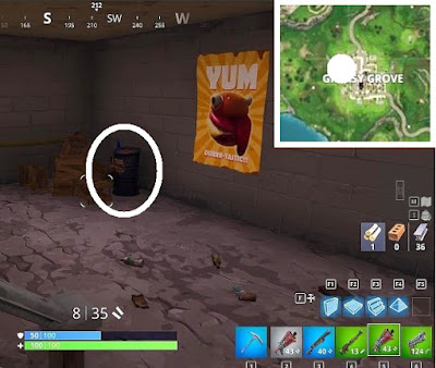 Fortnite, Battle Royale, Hungry Gnomes, Locations Guide,Greasy Grove