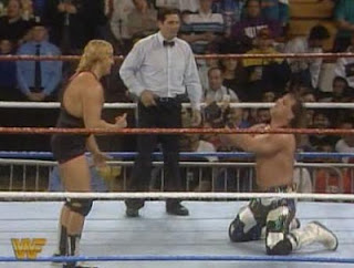 WWF / WWE Survivor Series 1993: Shawn Michaels begs off from Owen Hart