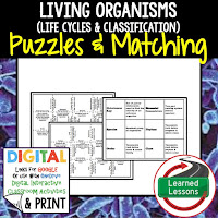 Life Cycles, Classification, Life Science Puzzles, Life Science Digital Puzzles, Life  Science Google Classroom, Vocabulary, Test Prep, Unit Review