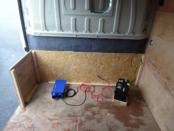 Van conversion attaching floor and seating bench
