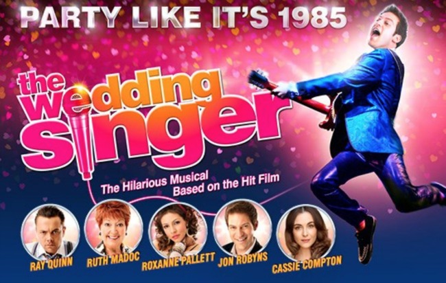 The-Wedding-Singer-New-Theatre-Cardiff-A-perfect-Mummies-night-out-poster-with-images-of-main-characters