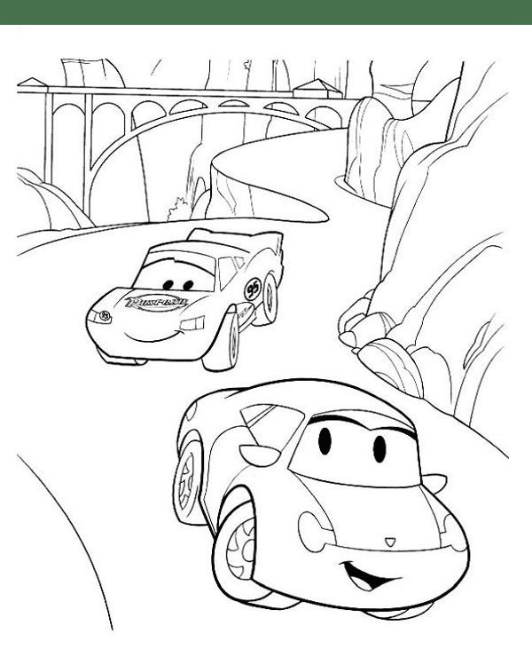 Tranh cho bé tô màu vương quốc xe hơi 5