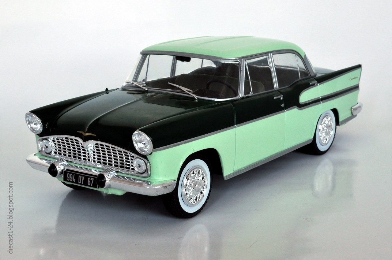 diecast 1 24 auto vintage france 11 simca vedette. Black Bedroom Furniture Sets. Home Design Ideas
