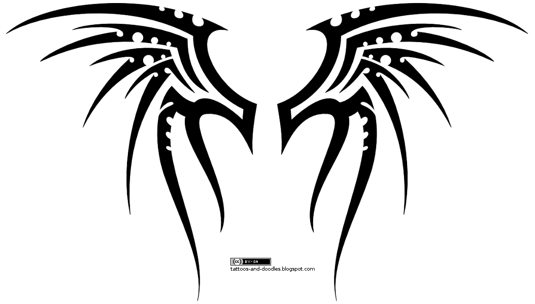 49868b246 Tattoos and doodles: Tribal wings