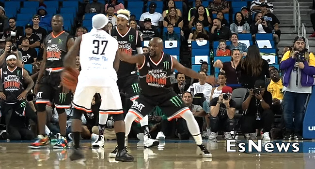 The 'Bone Collector' KNOCKS DOWN Floyd Mayweather With a NASTY Crossover (VIDEO)