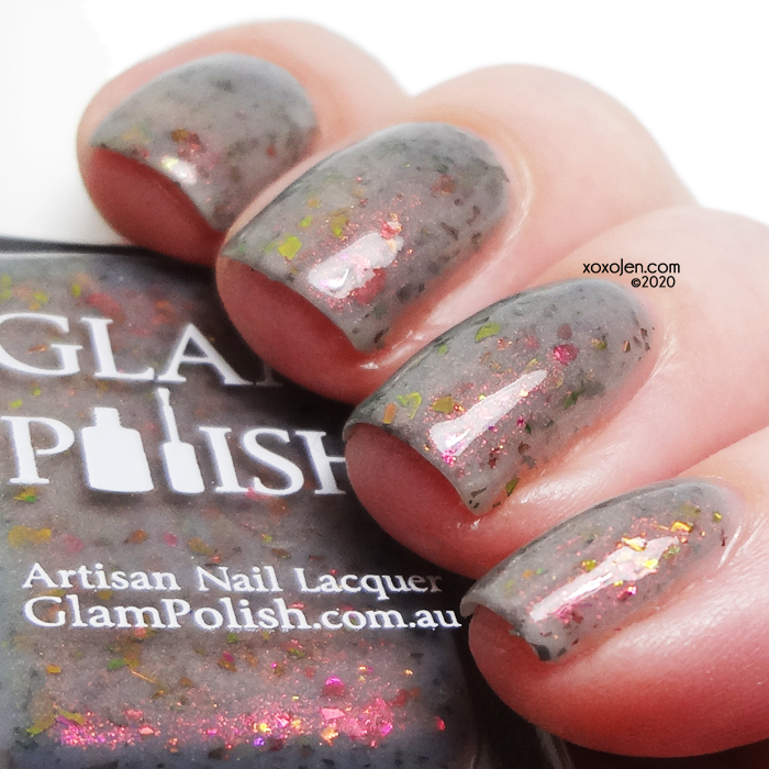 "xoxoJen's swatch of Glam Polish Angel Investigations ""We Help The Hopeless"