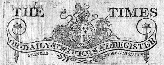 The Times logo 1788