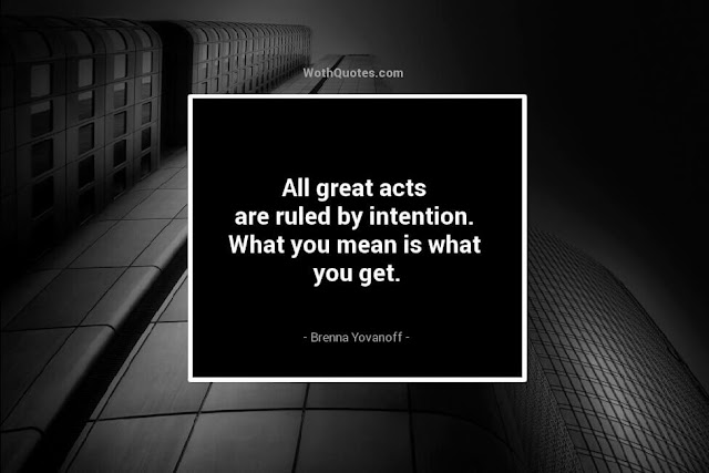 Intention Quotes