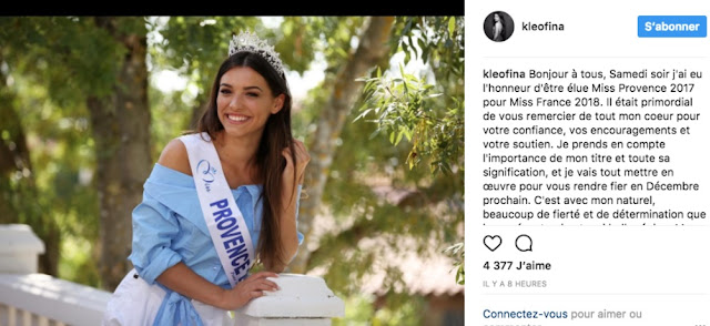 Kleofina Pnishi, the Albanian beauty that could become Miss France 2018