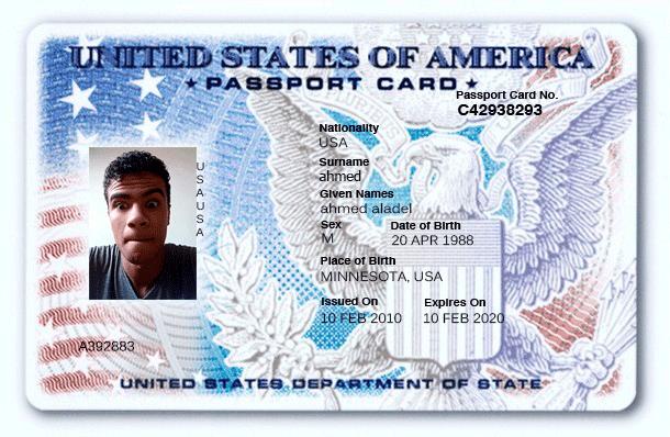 كيفية تزوير جواز سفر امريكي للإستفادة منه في خدمات الانترنت!