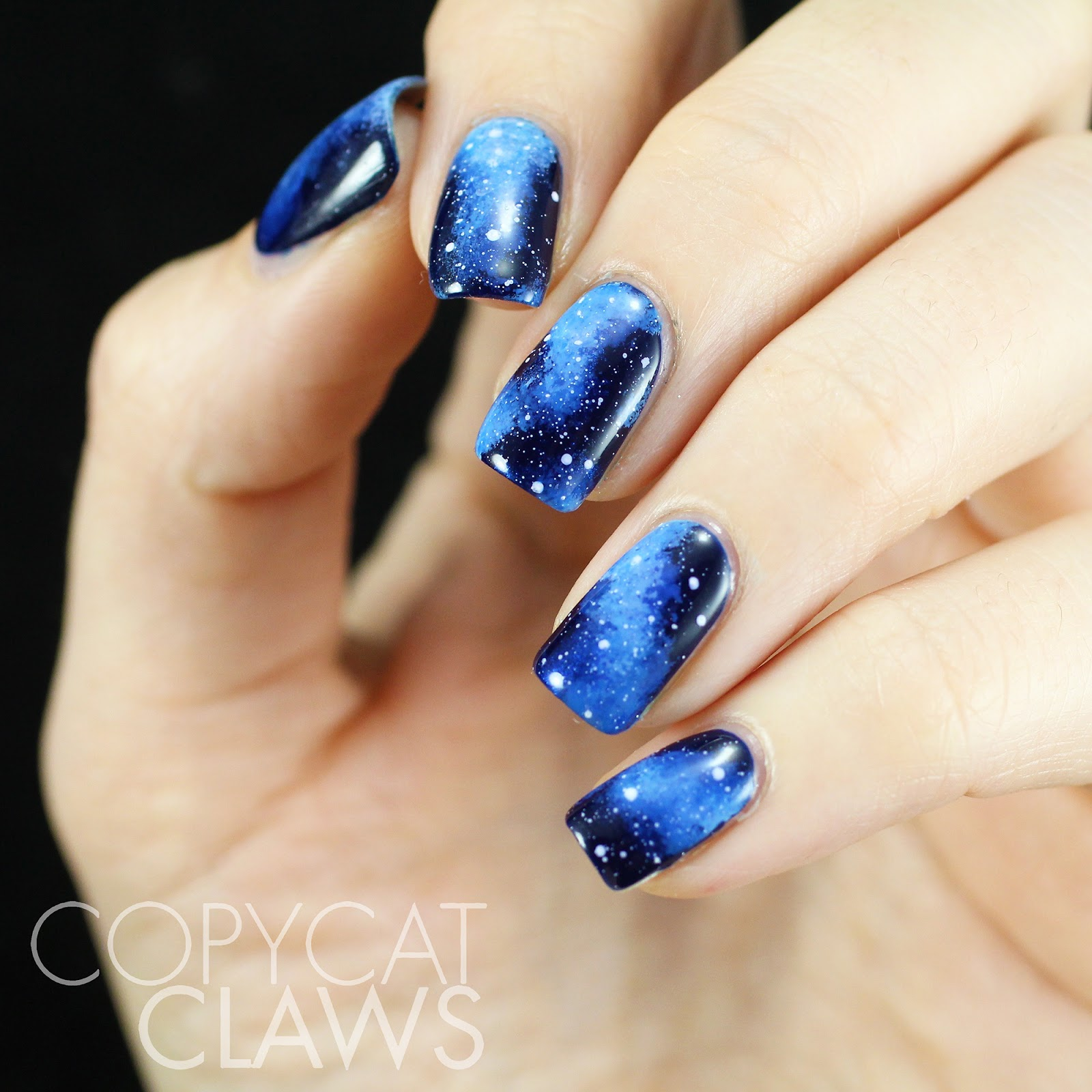 Copycat Claws: The Hitchhiker\'s Guide To The Galaxy Nail Art
