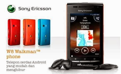 Sony Ericsson W8 Ponsel Walkman Berbasis Android