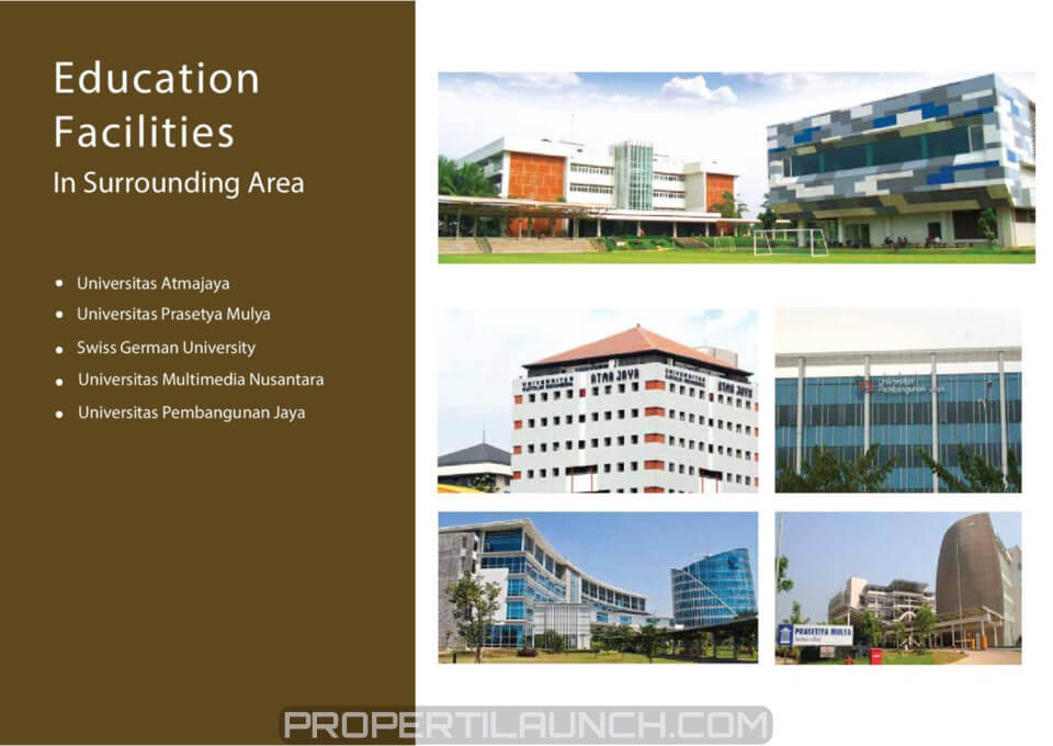 Universitas Dekat Apartemen Serpong Garden