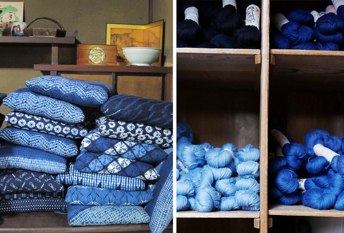 Aizen Kobo - indigo textiles  - Kyoto