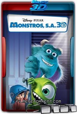 Monstros S.A. Torrent 2001 1080p BluRay 3D Half-SBS Dual Áudio