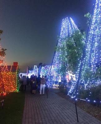 #FantasyofLight, lights, Christmas, Waterfall Park