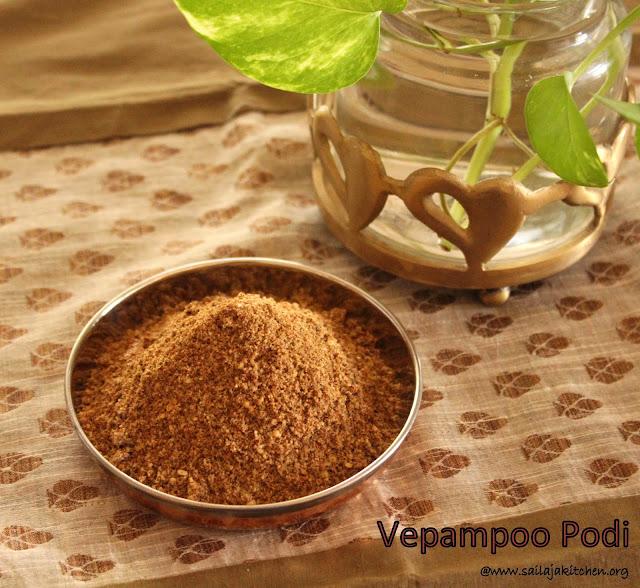 images of Vepampoo Podi /  Dried Neem Flowers Powder Recipe