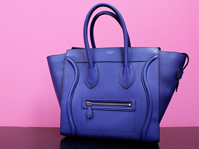 36a1d8240d39 Here are some pictures of my Celine Mini Luggage Bag in Indigo Blue so that  you can see all the exquisite detail and beauty close up.