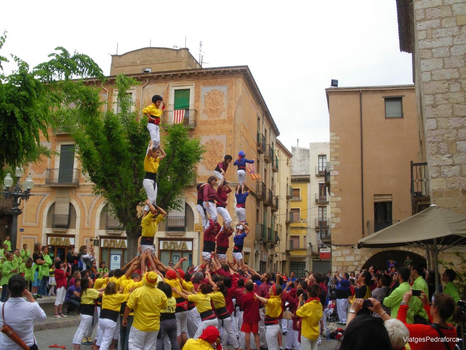 Castellers a Montblanc Conca de Barberà
