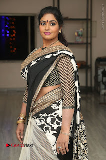 Telugu Actress Jayavani Jayavani Stills in Black Saree at Intlo Deyyam Nakem Bhayam Success Meet  0047.JPG