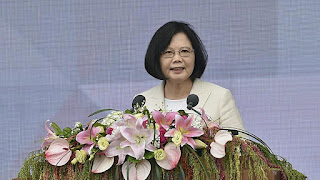 Taiwan's president calls for improved ties with China