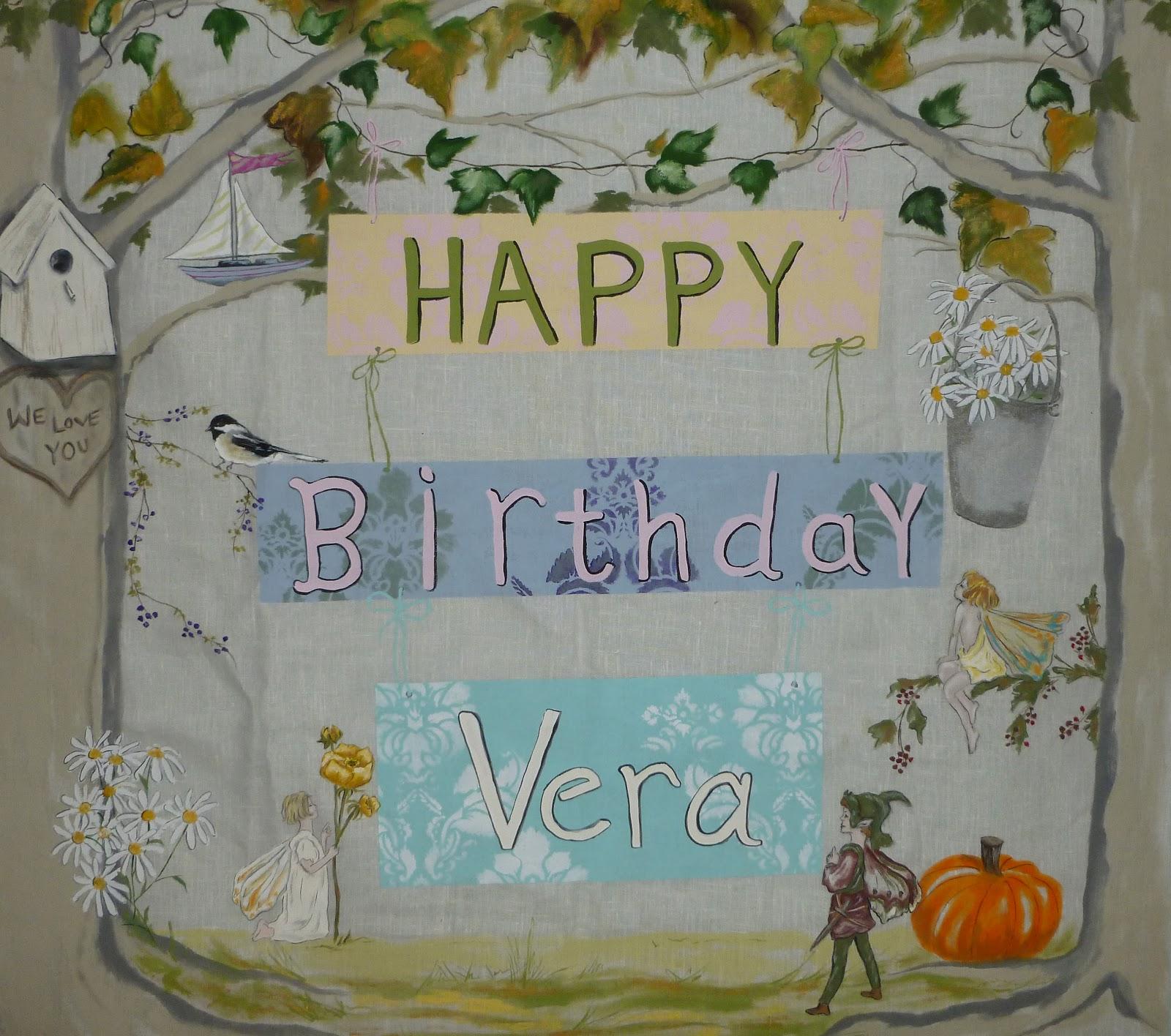 Happy Birthday Vera Cake