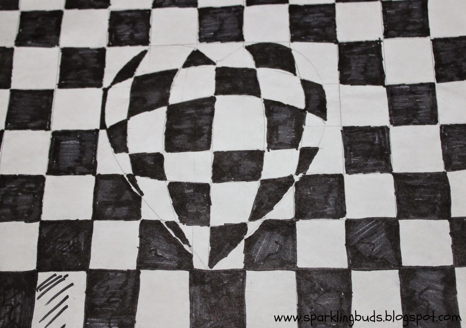 optical illusion 3d heart