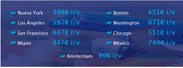 oferta de vuelos baratos a USA con KLM