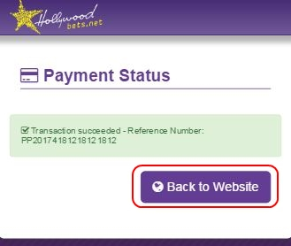 Payment Status - Successful or not - Reference number - Peach Payments - Deposit Method