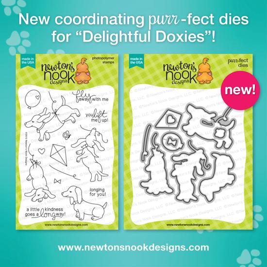 Delightful Doxies Stamp set | Newton's Nook Designs #newtonsnook