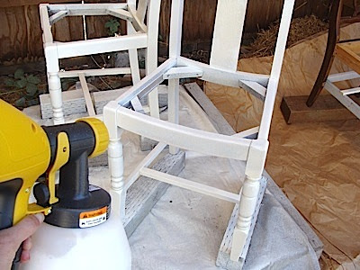 paint sprayer for furniturePainting With An Inexpensive Handheld Paint Sprayer