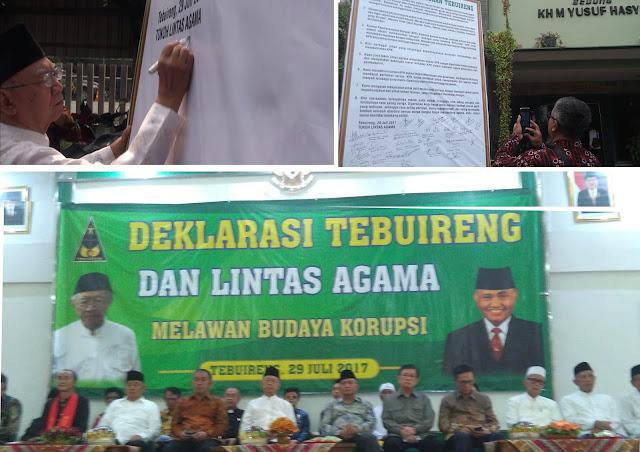 Dihadiri ketua KPK, Tokoh Lintas Agama di Jombang Deklarasi Melawan Budaya Korupsi