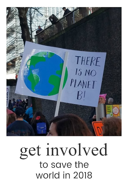 get involved in organizations to save the world in 2018