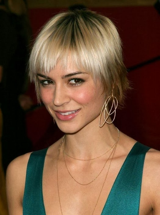 celebrity hair styles 2014 hairstyles 2014 hairstyles pictures 4707 | Celebrity Hairstyles for 2014 – Chic Short Sleek Hairstyle with Bangs