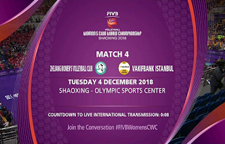 Women's Volleyball Championship Biss Key Eutelsat 10A 4 December 2018